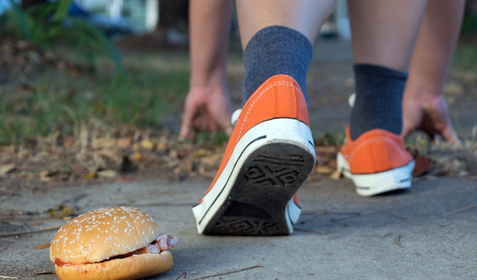 junk food and jogging